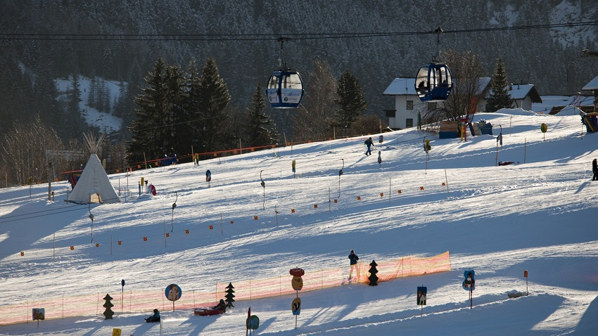 Ski slopes at Alexandra Catered Apartment in St Anton