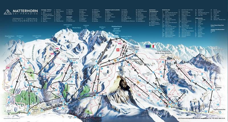 Zermatt Matterhorn Piste Map 2020