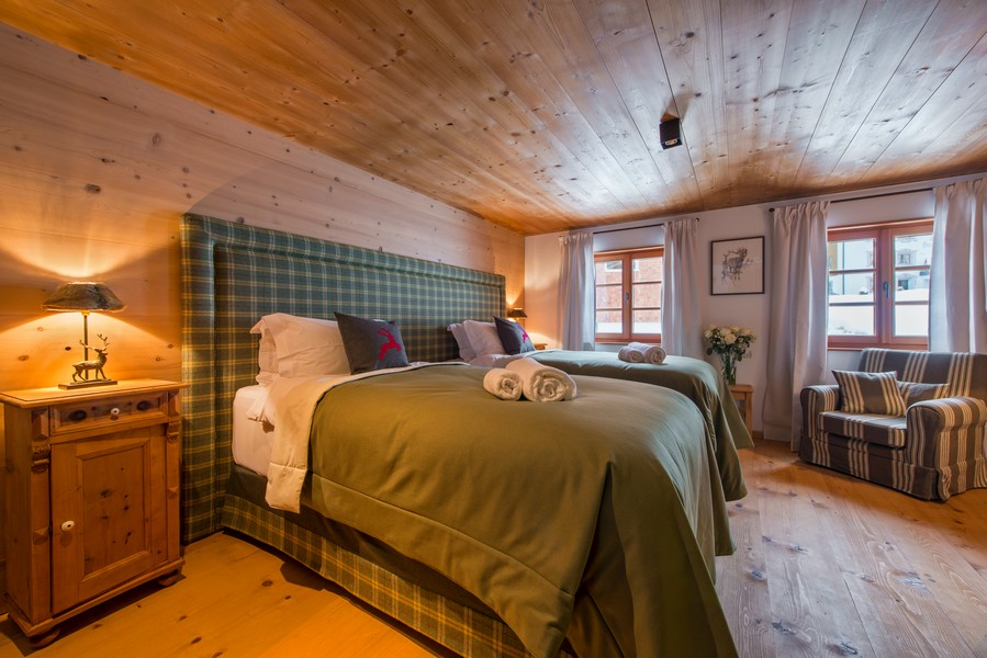 Bedrooms 1597 chalet in Lech with Hot-tub