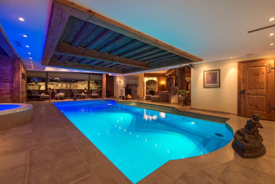 Pool Makini ski-in/ski-out Chalet Verbier