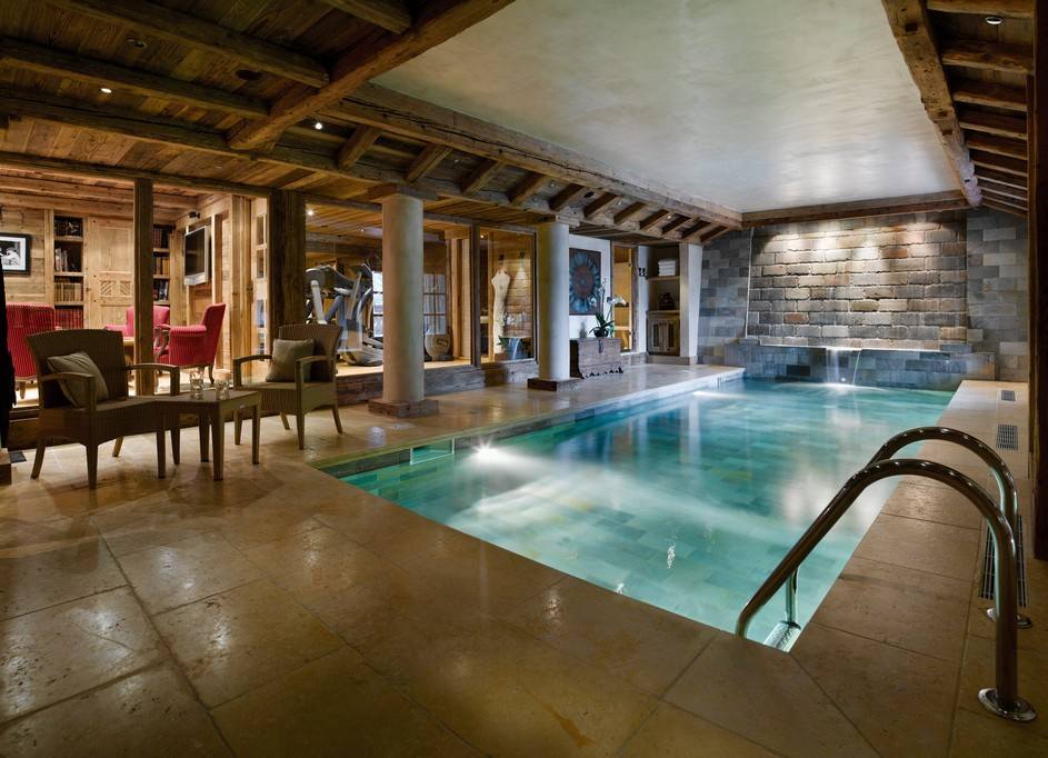 Spa and Swimming pool at Chalet Ormello in Courchevel 1850
