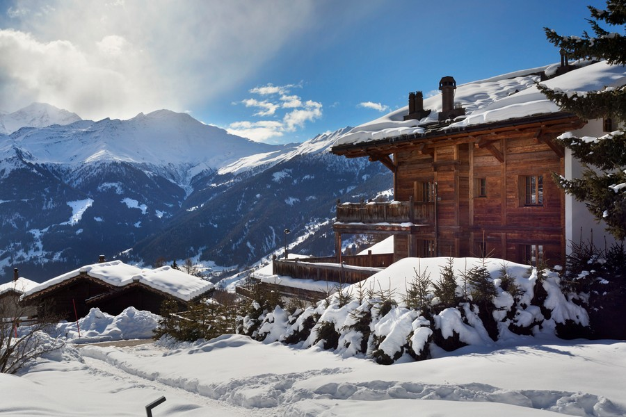Exterior from the chalet Truffe Blanche in in Verbier