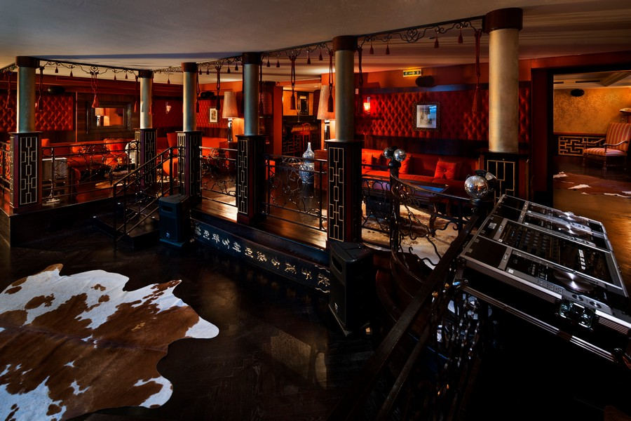Night club at Truffe Blanche in in Verbier