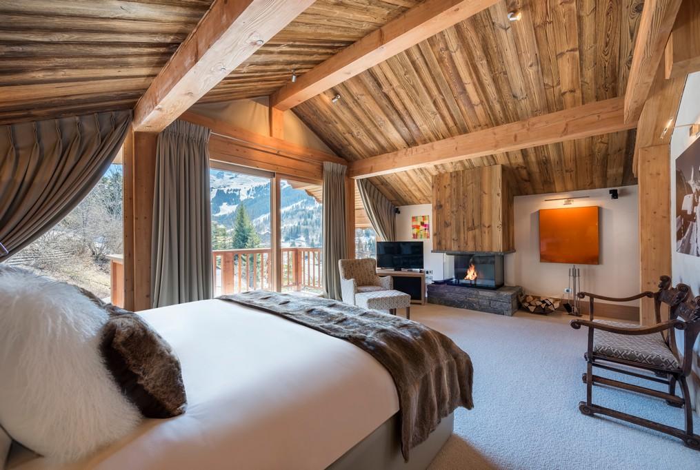 Bedroom views Mont Tremblant Chalet in Meribel