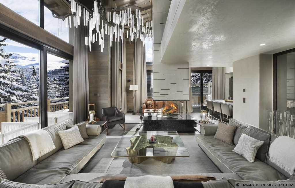 Interior of the Chalet Perce Neige in Courchevel 1850