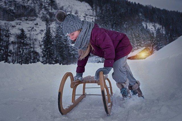 tobogganing child non Ski activities
