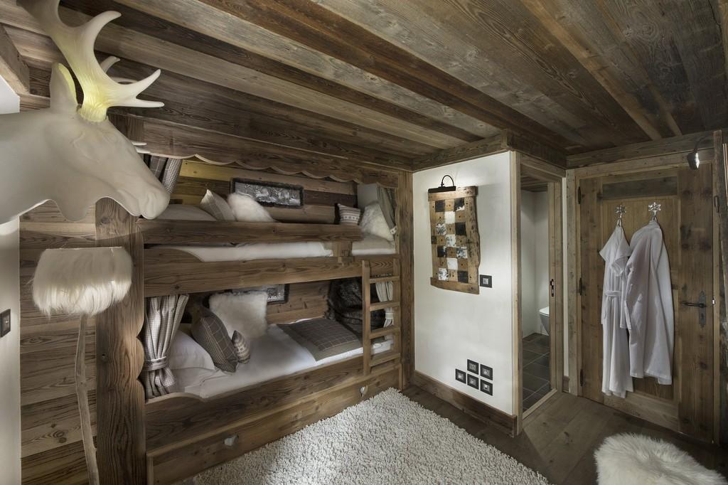 Bunk bedrooms Makalu chalet in Courchevel 1550