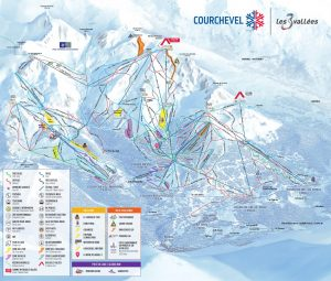 Courchevel Piste Map 2020 Paragon ski chalets