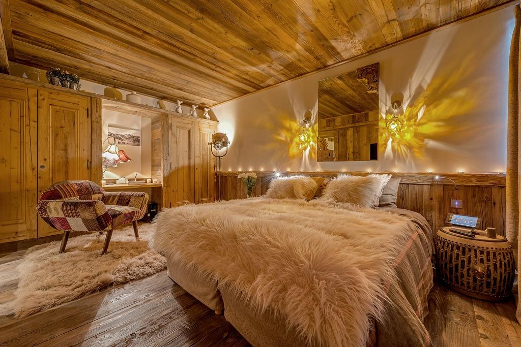 Luxury bedroom Chalet Husky in Val d'Isère