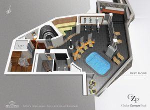 1st Floor plan Chalet Zermatt Peak