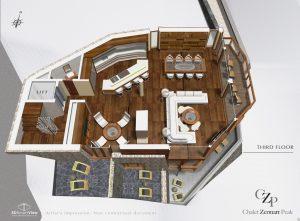 3rd Floor Plan Chalet Zermatt Peak