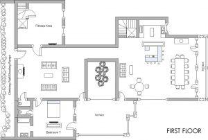 Chalet Husky First floor plan