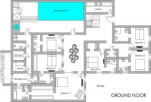 Chalet Husky Ground floor Plan