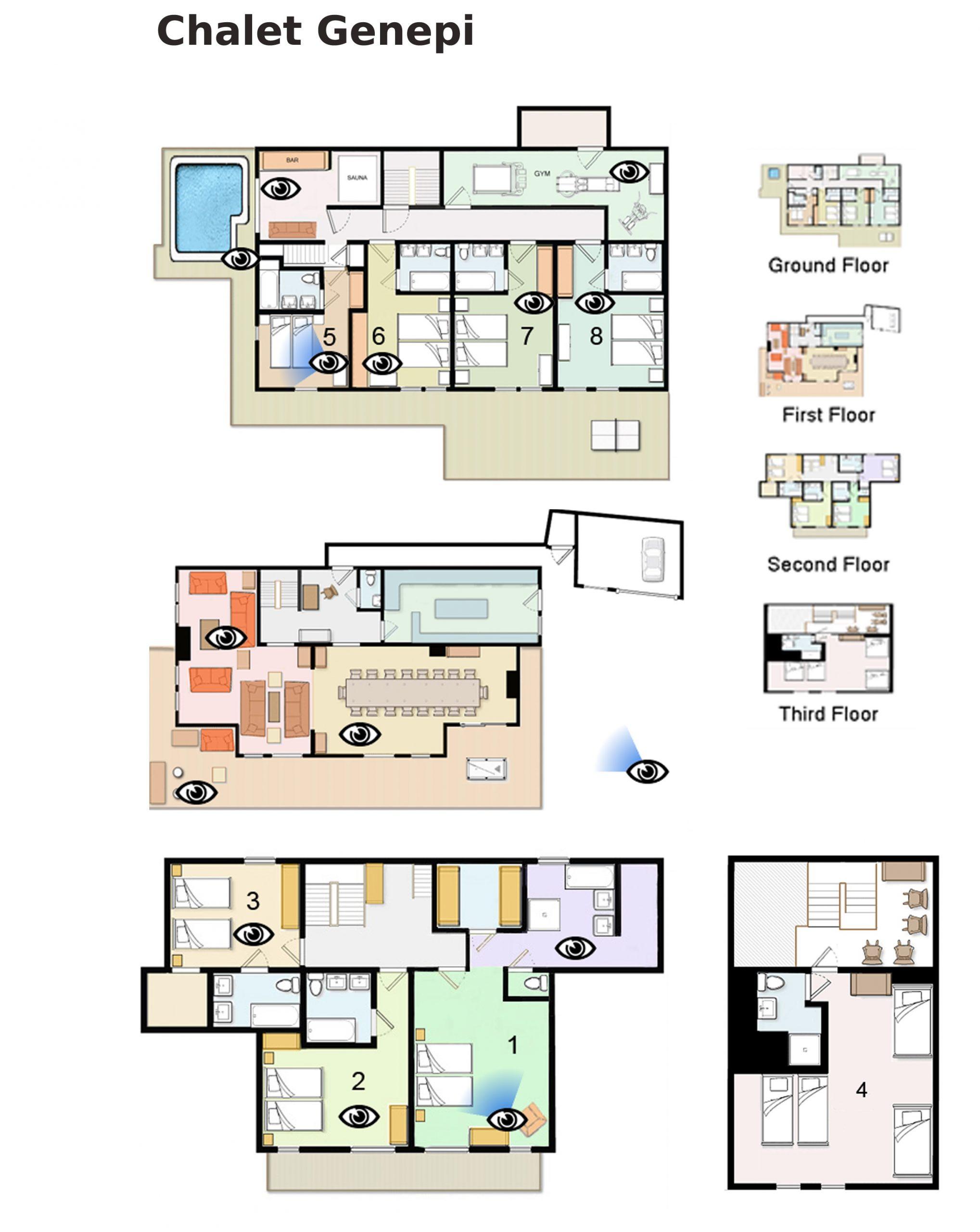 Floor Plan of Chalet Genepi Meribel