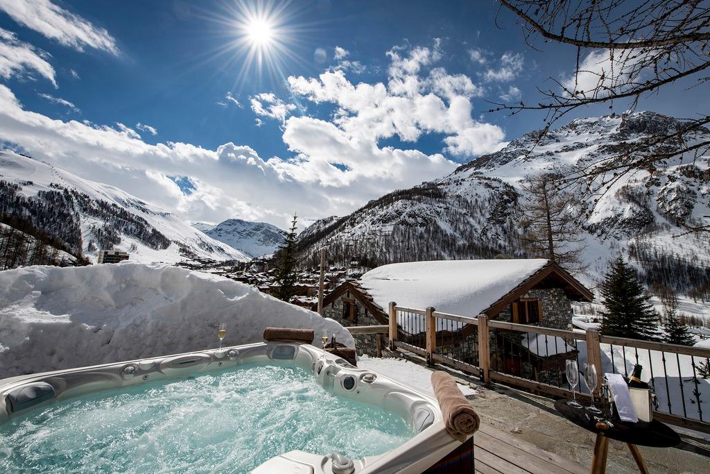 outdoor Hot tub Chalet Machapuchare