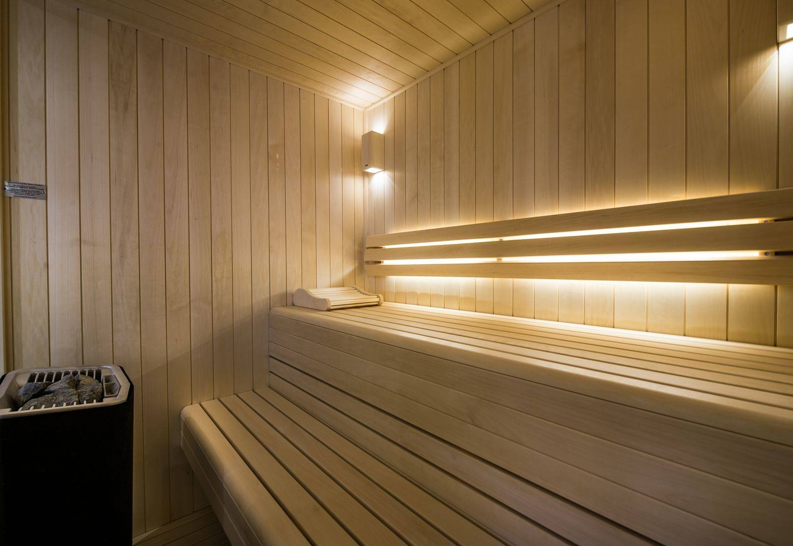 Sauna with lights on chalet adalta Meribel