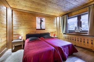 Twin bedroom chalet adalta Meribel