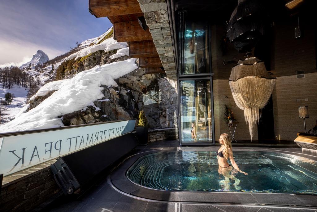 Luxury Chalet in the Swiss Alps. Aufgenommen in Zermatt im Februar 2021.  ©David Birri