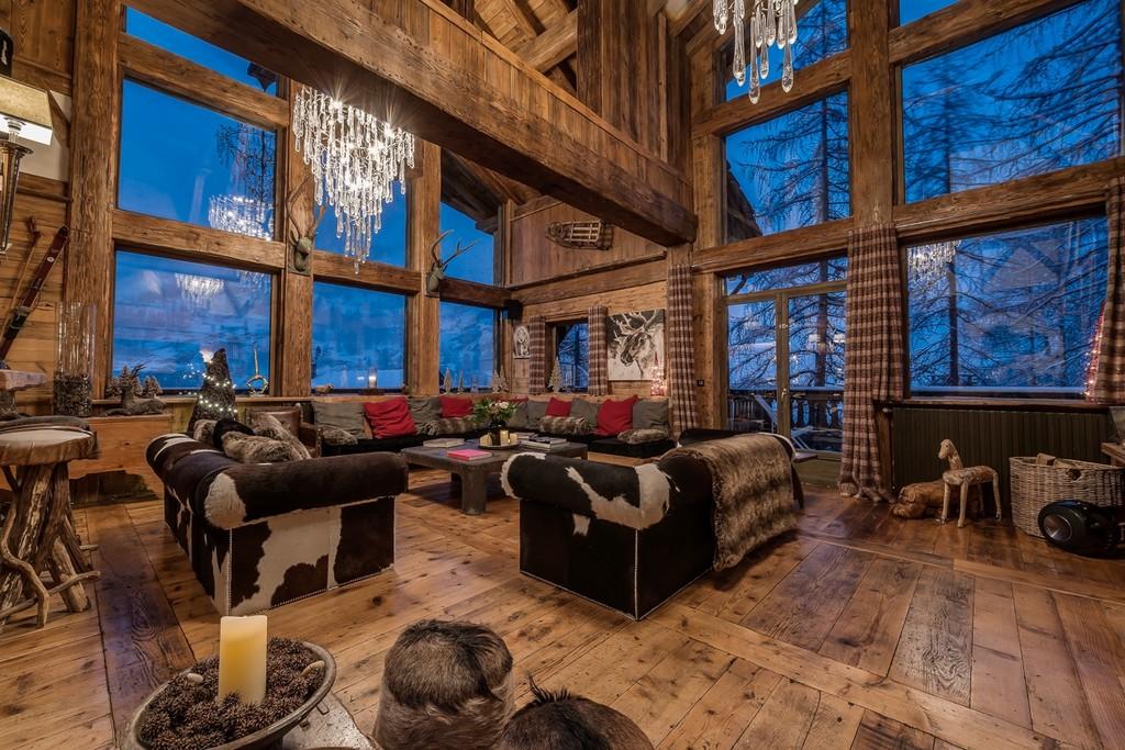 Chalet Le Rocher Living indoor