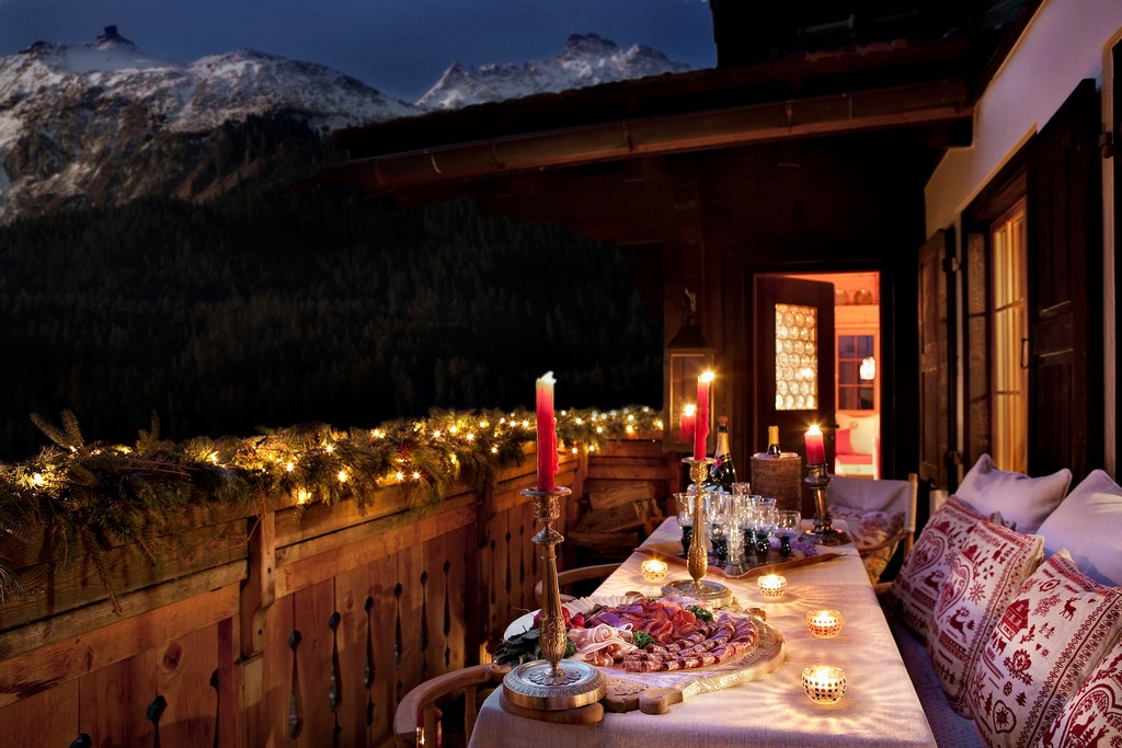 Views from the chalet night time