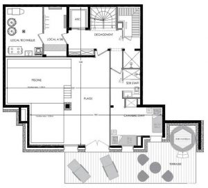 Floor PLan Level 0 Chalet Pure White Crystal
