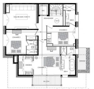 Floor PLan Level 1 Chalet Pure White Crystal