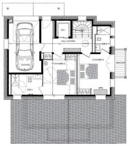 Floor PLan Level 2 Chalet Pure White Crystal