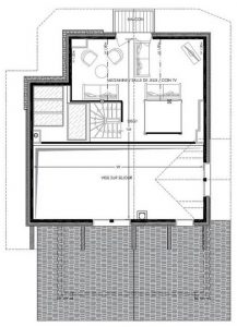 Floor plan Mezzanine Chalet Pure Black Crystal
