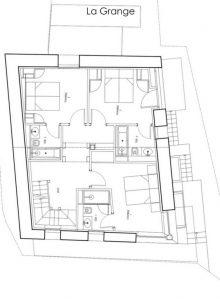 Levle-1 Floor 1 Chalet La Grange 1855