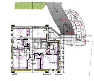 Groung floor plan Chalet Divinity
