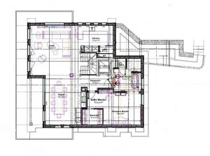 First floor plan Chalet Divinity